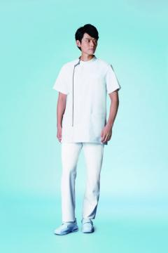 白衣や医療施設用ユニフォームの通販の【メディカルデポ】メンズジャケット半袖