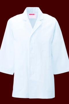 作業服の通販の【作業着デポ】衿付調理衣(七分袖)