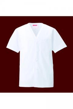 ユニフォームや制服・事務服・作業服・白衣通販の【ユニデポ】衿なし調理衣半袖