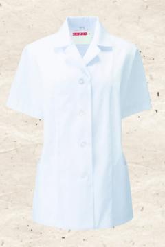 ユニフォームや制服・事務服・作業服・白衣通販の【ユニデポ】衿付調理衣(半袖)