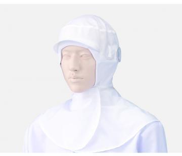 ユニフォームや制服・事務服・作業服・白衣通販の【ユニデポ】フード帽子(ケープ付)