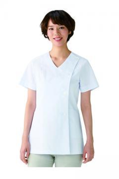 ユニフォームや制服・事務服・作業服・白衣通販の【ユニデポ】V衿調理衣半袖