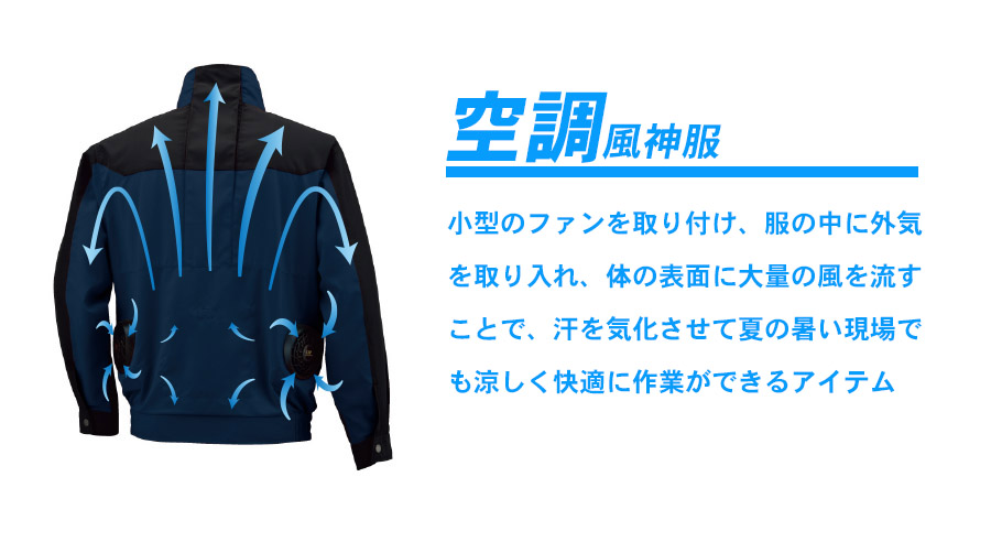 【空調風神服】チタン加工半袖ジャケット(単品)