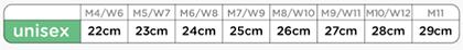 【3色】crocsサンダル(クラシック) サイズ詳細