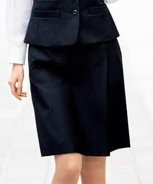 事務服・会社制服用ユニフォームの通販の【事務服デポ】【2色】プリーツスカート(ブレイニーストライプ)