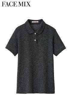 【全4色】吸汗速乾フラットカラーポロシャツ[女]