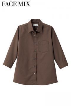 レディス開襟七分袖シャツ