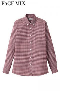 作業服の通販の【作業着デポ】レディスボタンダウン長袖シャツ