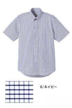 ユニフォームや制服・事務服・作業服・白衣通販の【ユニデポ】【全9色】グラフチェックシャツ(半袖)