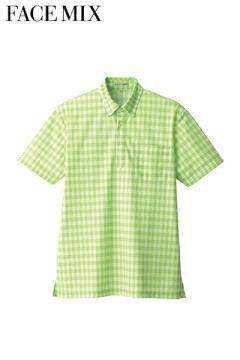 チェックプリントポロシャツ