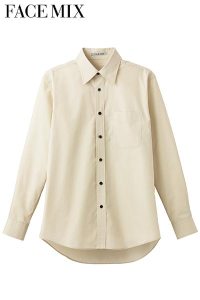 ブロードレギュラーカラー長袖シャツ