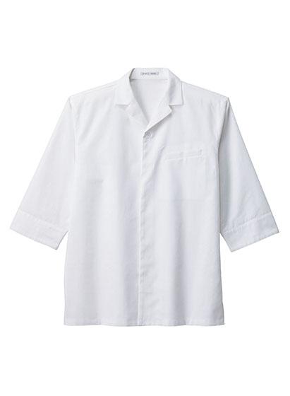 ユニセックス開襟和シャツ