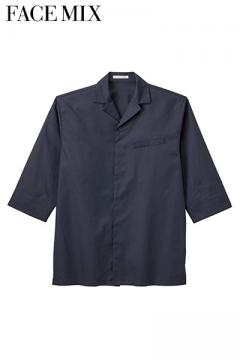 コックコート・フード・飲食店制服・ユニフォームの通販の【レストランデポ】ユニセックス開襟和シャツ