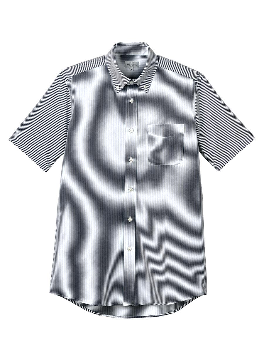 ボタンダウンニット半袖シャツ