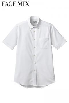 コックコート・フード・飲食店制服・ユニフォームの通販の【レストランデポ】ボタンダウンニット半袖シャツ