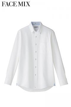 メンズ吸収速乾ニット長袖シャツ