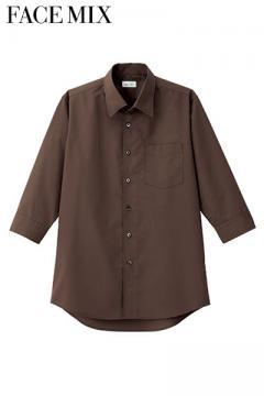 メンズ開襟七分袖シャツ