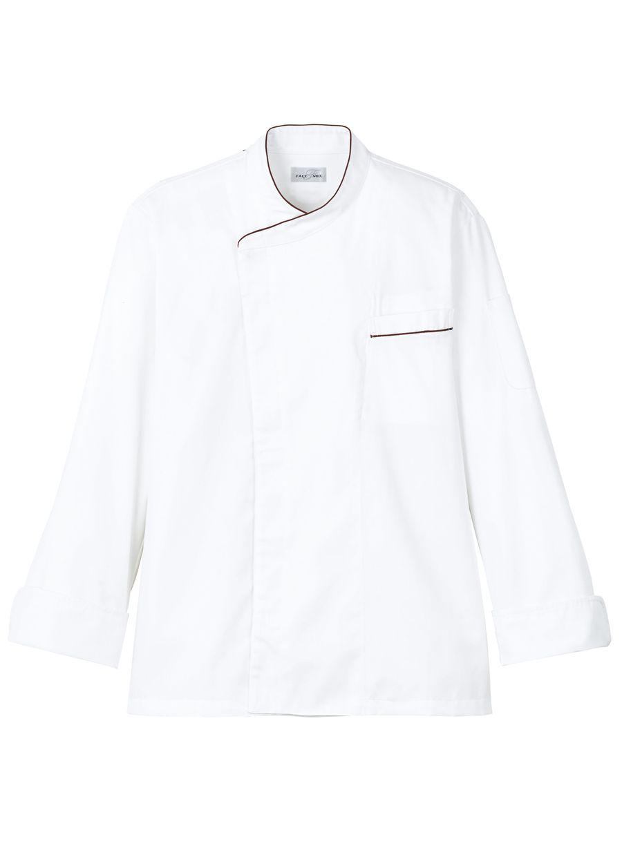 【4色】ユニセックスコックコート(抗菌防臭・比翼あき/~5Lまであり)