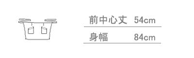 【全6色】ミドル丈リボンエプロン サイズ詳細
