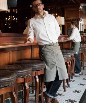 コックコート・フード・飲食店制服・ユニフォームの通販の【レストランデポ】【Lee】ウエストエプロン