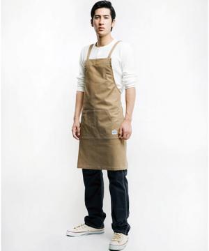 ユニフォームや制服・事務服・作業服・白衣通販の【ユニデポ】【Lee】胸当てエプロン