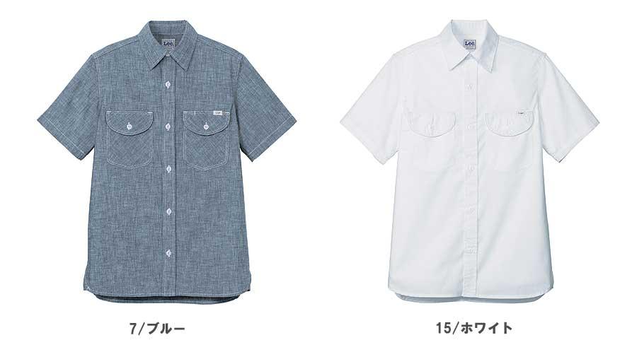 【Lee】メンズシャンブレー半袖シャツ