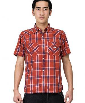 【Lee】メンズウエスタンチェック半袖シャツ