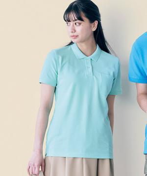 6.5オンスCVC鹿の子ドライポロシャツ(ポケット付)