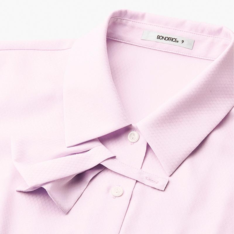 【全3色】リボン付き長袖ブラウス(ポリジン)