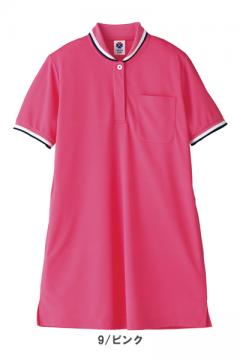 作業服の通販の【作業着デポ】【全4色】レディスチュニックポロシャツ(ショールカラー)