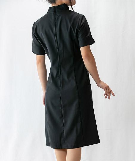 【3色】襟元エレガントフリルワンピース(高機能素材)