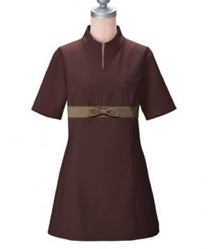 【全3色】胸元リボンのチュニックシャツ(高機能素材)