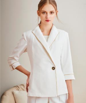 白衣や医療施設用ユニフォームの通販の【メディカルデポ】レディスジャケット白衣(七分袖)