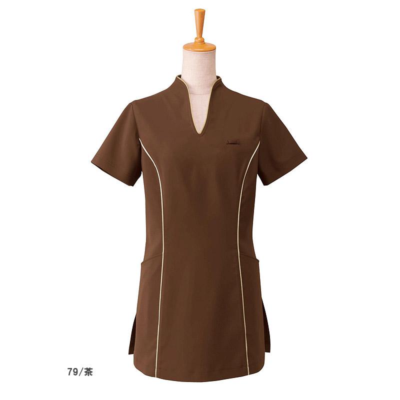 【全3色】チュニックシャツ(スプリンジーツイル素材)