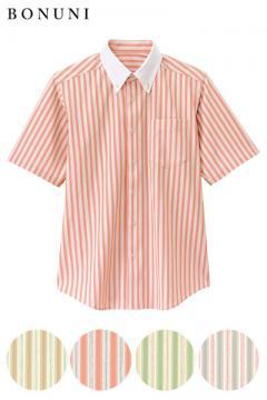 ボタンダウンシャツ(ストレッチ・吸汗速乾・腕ラク)