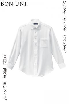 【S~5Lサイズ展開】長袖ニットシャツ(多機能素材/男性用)