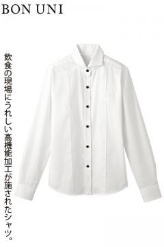 ホリゾンタルカラー万能シャツ(多機能素材・女性用)