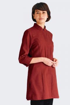 【4色】レディスマオカラーシャツ(七分袖)