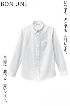 【5号~21号サイズ展開】長袖ニットシャツ(多機能素材/女性用)