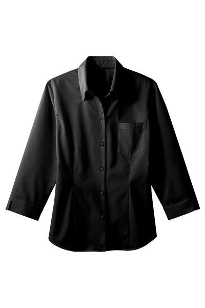 レディースベルカラーシャツ(衿裏釦付)