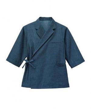 【播州織和紙デニム】和風テーラードシャツ