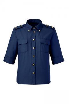 ユニフォームや制服・事務服・作業服・白衣通販の【ユニデポ】九分袖シャツ(肩章付)
