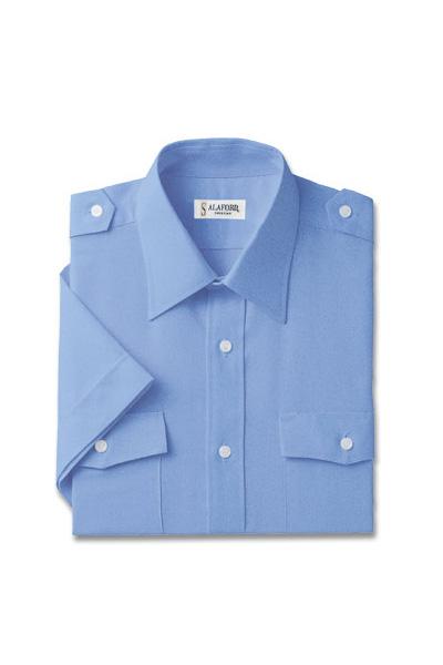 オックスフォード半袖シャツ(肩章付)