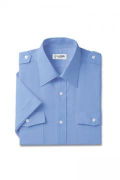 ユニフォームや制服・事務服・作業服・白衣通販の【ユニデポ】オックスフォード半袖シャツ(肩章付)