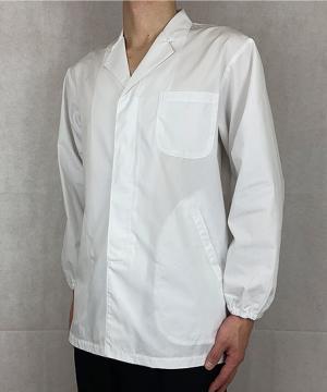 【抗菌防臭加工】長袖メンズ襟付き白衣(~5Lまであり)