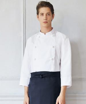 【節電対策】コックコート(七分袖/男女兼用)薄手素材 ポリエステル65・綿35