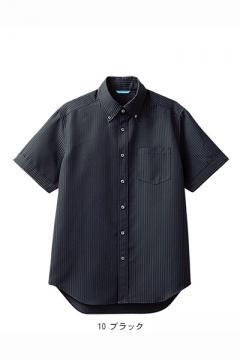 メンズ半袖ボタンダウンシャツ(形態安定・透け防止・吸汗速乾)