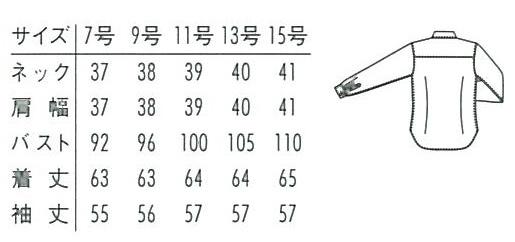 レディス長袖ボタンダウンシャツ(形態安定・透け防止・吸汗速乾) サイズ詳細