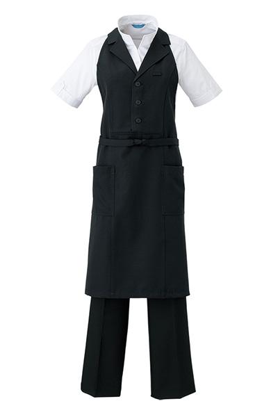 衿付きカマーエプロン(首掛けタイプ/兼用)