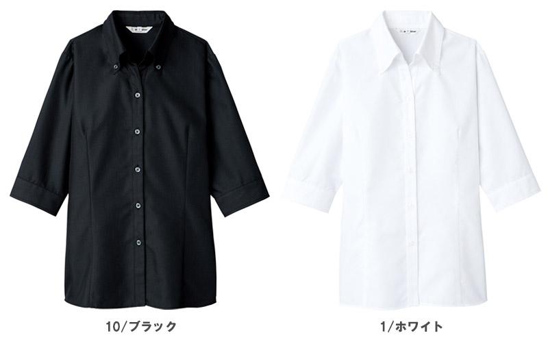 【全2色】ブラウス(開襟タイプ・七分袖)